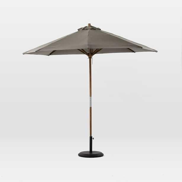 Round Wooden Umbrella - Steel - West Elm