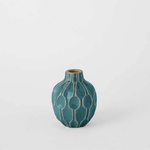 Short Shoulder Vase - Blue Lagoon - West Elm
