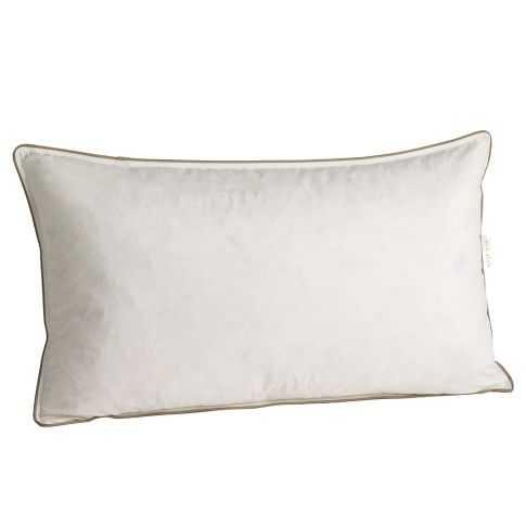 """View Details Decorative Pillow Insert – 12""""x21""""- Poly Fiber - West Elm"""