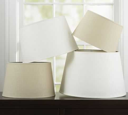 Linen Tapered Drum Lamp Shade - Pottery Barn