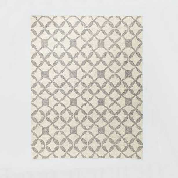 Tile Wool Kilim Rug - Platinum - West Elm