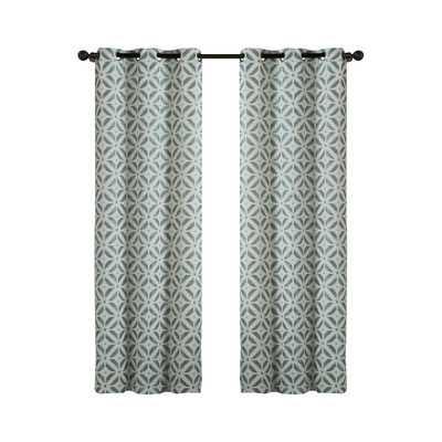 "Dalton Curtain Panel - Blue - 84"" L x 76"" W - Wayfair"
