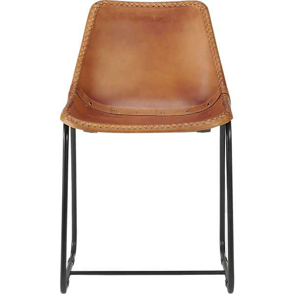Roadhouse leather chair - CB2