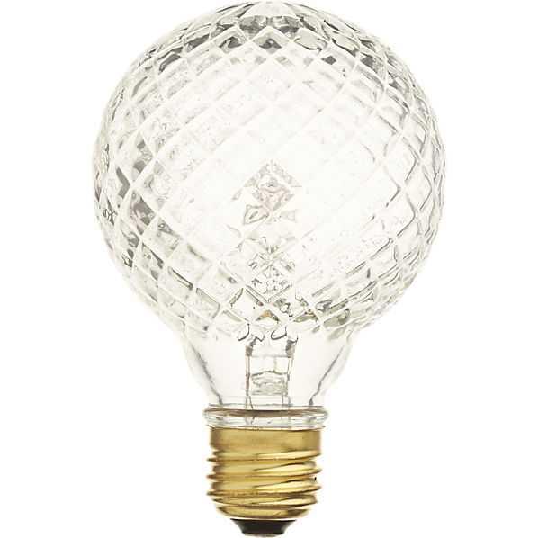 Cut glass halogen 40W light bulb - CB2