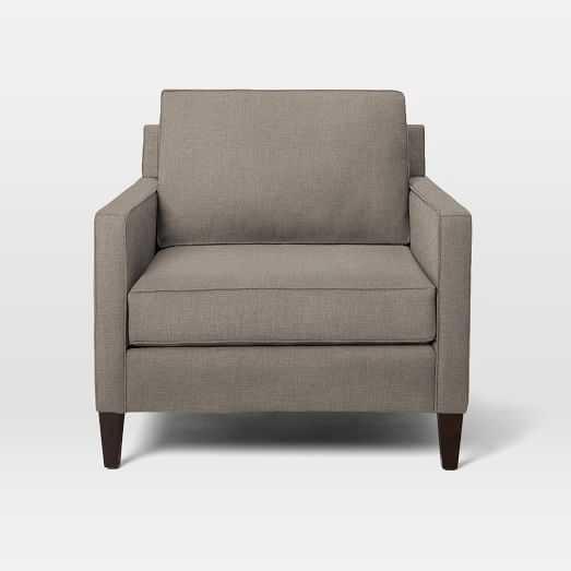 Heath Chair, Poly, Linen Weave, Doe, Cone Chocolate - West Elm