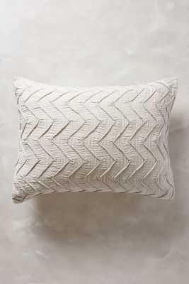 Textured Chevron Shams - Light Gray, King - Anthropologie