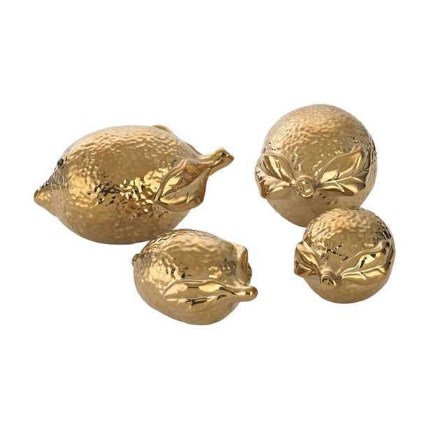 Gold Ceramic Lemons - Rosen Studio
