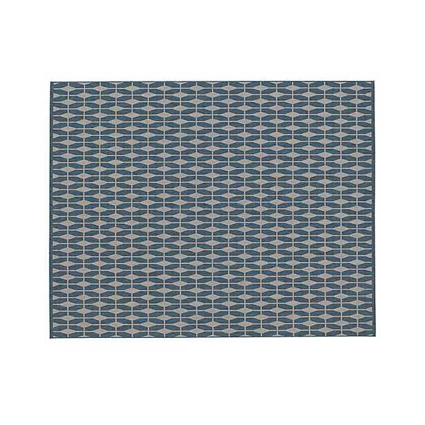 Indoor-Outdoor Rug - 5x8, Blue - Crate and Barrel