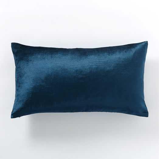 Luster Velvet Pillow Cover - 12x21 - No Insert - West Elm