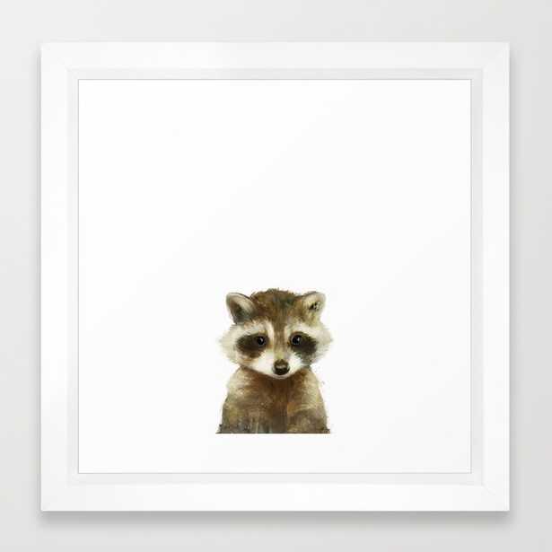 "Little Raccoon - FRAMED 12"" X 12"" MINI ART PRINT - Society6"