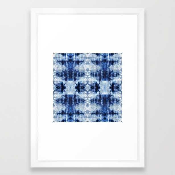 "ART PRINT/ VECTOR WHITE SMALL (15"" X 21"")FRAMED - Society6"