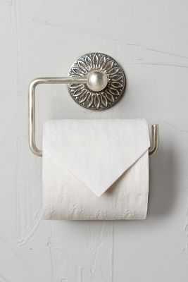 Floral Imprint Toilet Paper Holder - Anthropologie