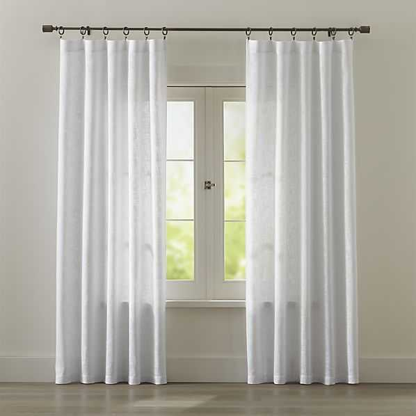 """Lindstrom White Curtains - 108"""" - Crate and Barrel"""