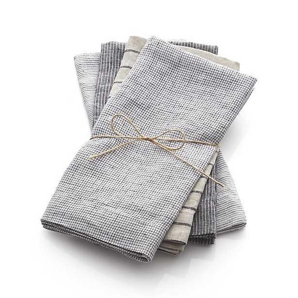 Set of 4 Suits Linen Napkins - Crate and Barrel