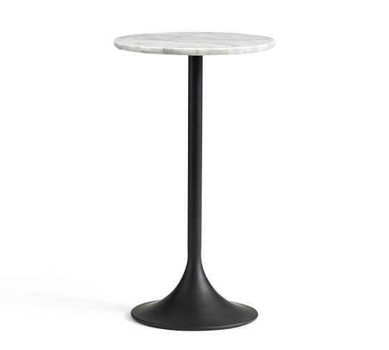 BRIGID MARBLE-TOP ACCENT SIDE TABLE - Pottery Barn