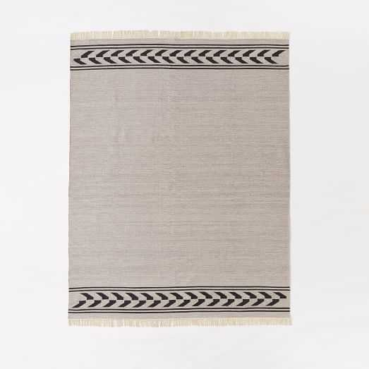 Steven Alan Arrow Border Cotton Kilim Rug - West Elm