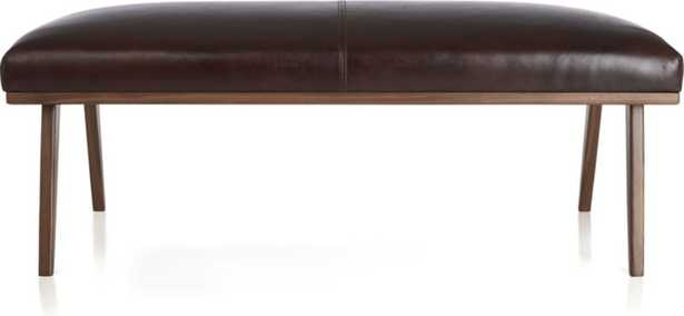 Cavett Leather Bench - Crate and Barrel