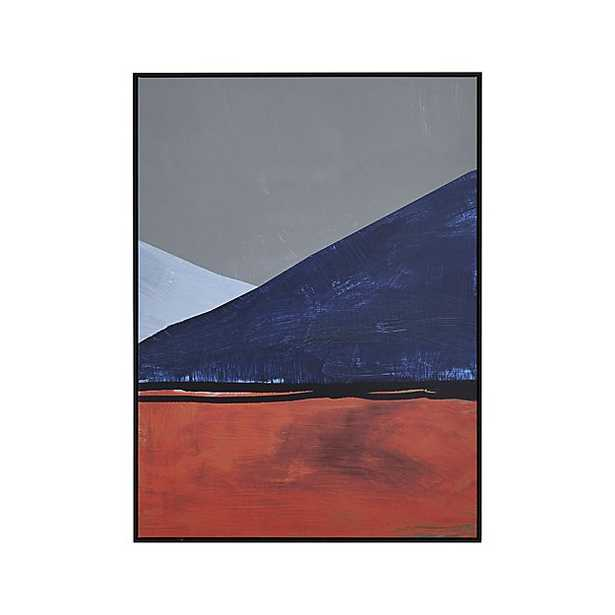 """Fairfield Print. 34""""Wx1.25""""Dx46""""H - framed - Crate and Barrel"""
