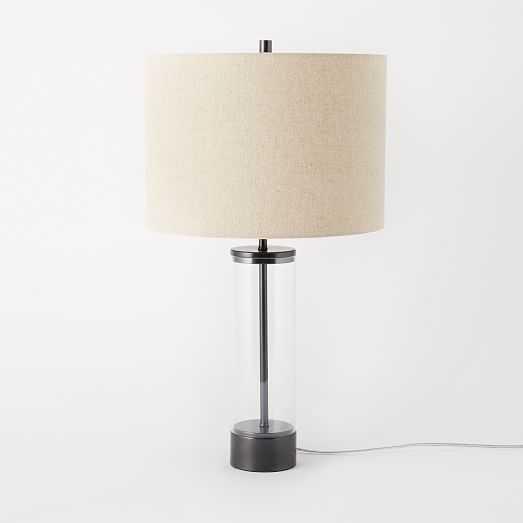 Acrylic Column Table Lamp - Antique Bronze - West Elm