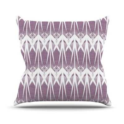Arrow Lavender Throw Pillow - 20'' H x 20'' - with insert - Wayfair