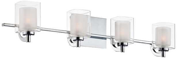"Quoizel Kolt 29"" Wide Chrome and Glass LED Bathroom Light - Lamps Plus"