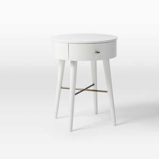 Penelope Nightstand, Small, White - West Elm