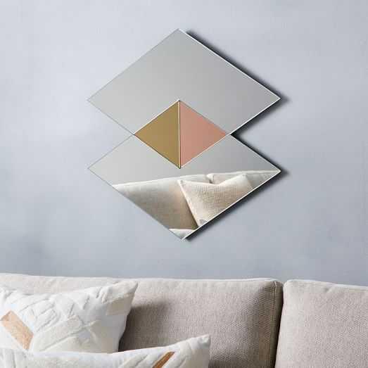 Colorblocked Mirror - Double Diamonds - West Elm
