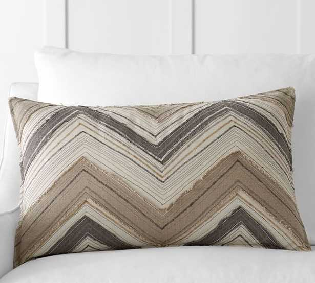 """ZIG ZAG APPLIQUE LUMBAR PILLOW COVER- 16""""x26"""" -  insert; sold separately. - Pottery Barn"""