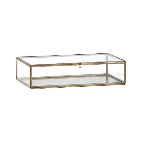 Clarus Small Brass Display Box - Crate and Barrel