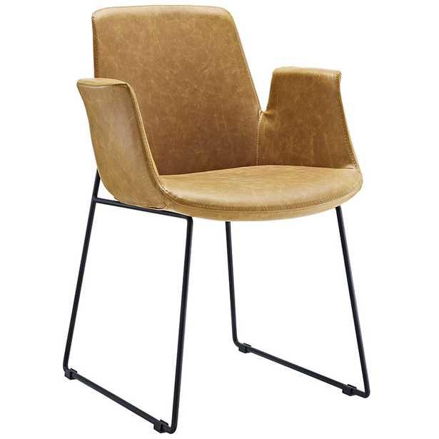 Aloft Dining Armchair In Tan - Modway Furniture