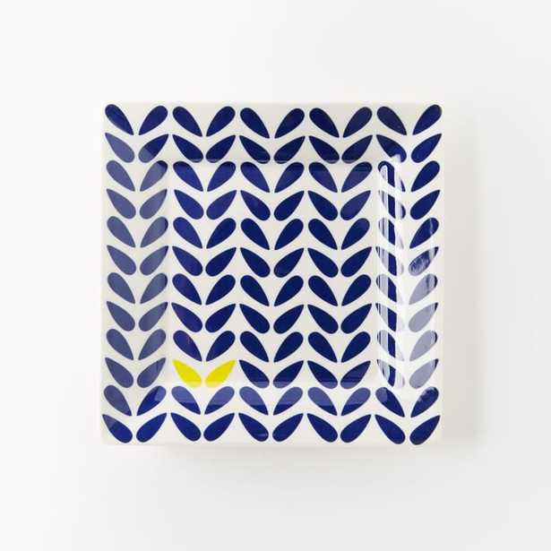 Collector's Editions Dinnerware - Blue, - Square Salad Plate - West Elm