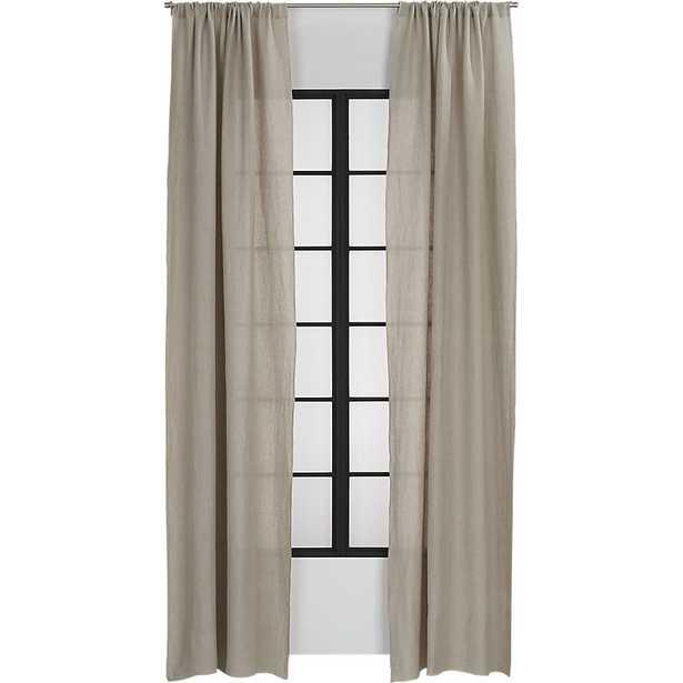 "natural linen curtain panel 48""x84"" - CB2"