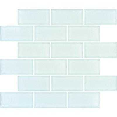 Arctic Ice Subway 12 in. x 12 in. x 8 mm Glass Mesh-Mounted Mosaic Tile - Home Depot