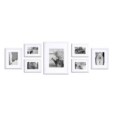 Gallery 7 Piece Perfect Wall Picture Frame Set - White - Wayfair