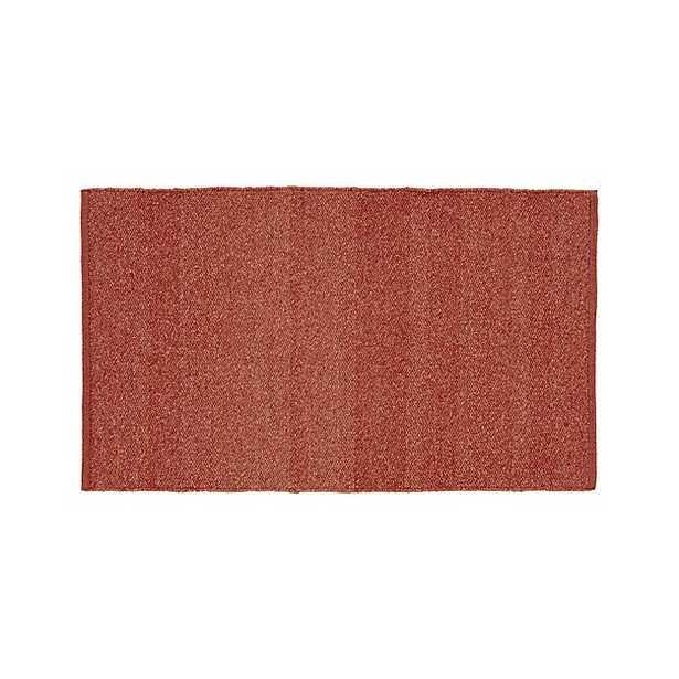 "Kavi Rust Wool-Blend 30""x50"" Rug - Crate and Barrel"