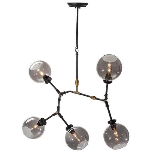 Atom 5 Light Pendant - Gray - AllModern