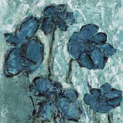 "Tones Flowers Painting Print - 16"" H x 16"" W - Unframed - Wayfair"
