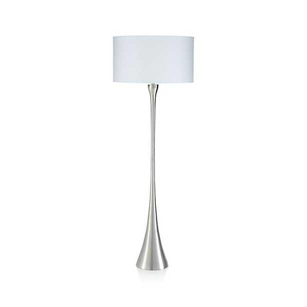 Melrose Nickel Floor Lamp - Crate and Barrel