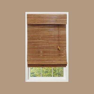 Honey Bamboo Weave Bamboo Roman Shade - Home Depot