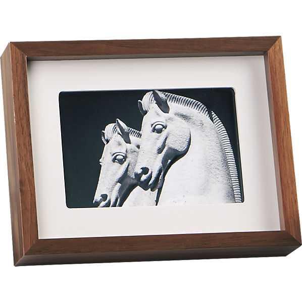 Walnut 4x6 picture frame - CB2