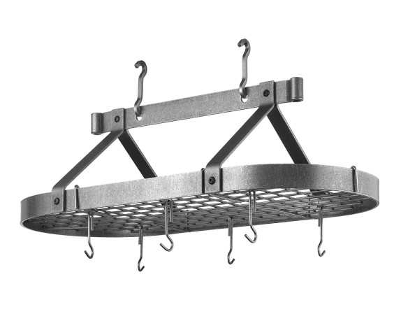 Enclume Traditional Oval Ceiling Pot Rack - Williams Sonoma