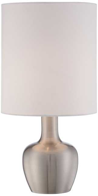 Betsy Brushed Steel Modern Touch Table Lamp - Lamps Plus