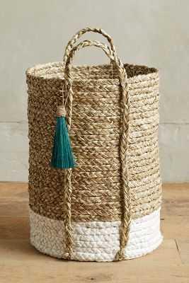 Balinese Tassel Basket - Tall - Anthropologie