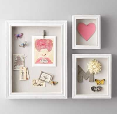 SHADOW BOX MEMORY BOARD- Small Rectangle - RH Baby & Child