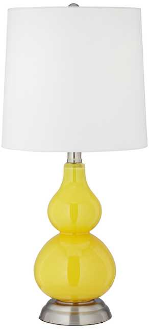 Citrus Yellow Small Gourd Accent Table Lamp - Lamps Plus