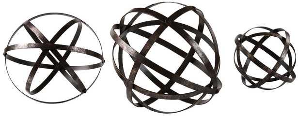 Uttermost Stetson 3-Piece Sphere Set - Lamps Plus