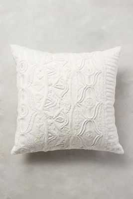 """Textured Ivory Pillow - 20"""" x 20"""" - Polyfill - Anthropologie"""