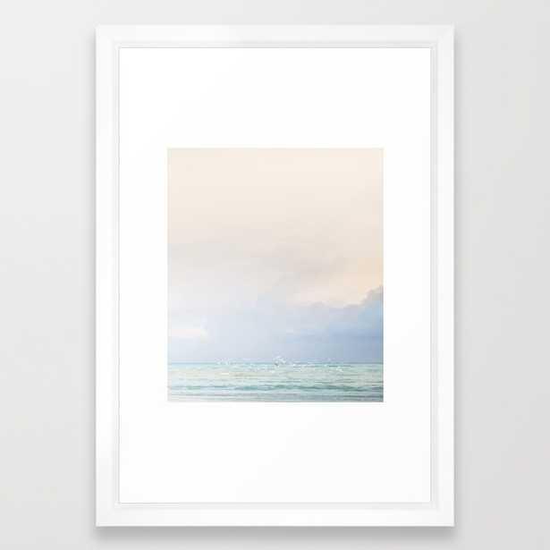 """Birds Waiting for Rain Art Print - 15"""" x 21"""" - Vector White Frame - Society6"""