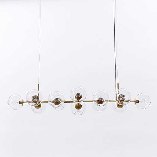 Staggered Glass Chandelier - 12-Light - West Elm