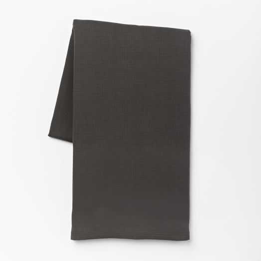 Organic Plissé Blanket - King, Slate - West Elm